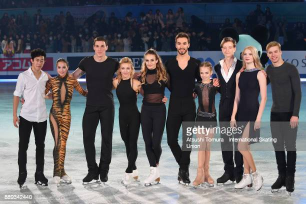 Gold medalists Nathan Chen of the USA Alina Zagitova of Russia Bruno Massot and Aljona Savchenko of Germany Gabriella Papadakis and Guillaume Cizeron...