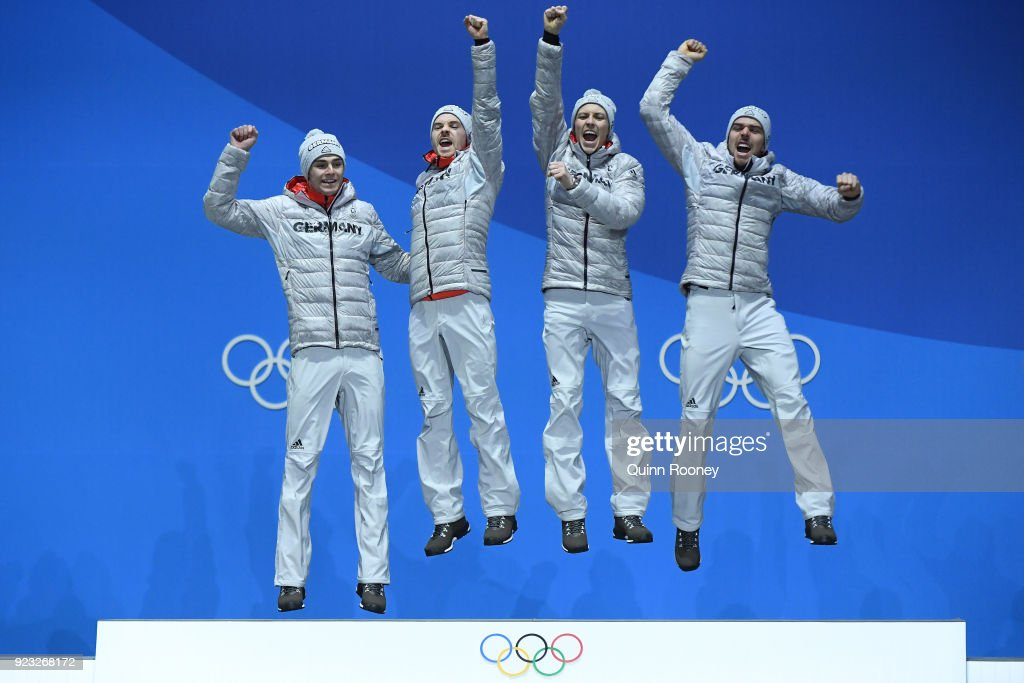 KOR: Medal Ceremony - Winter Olympics Day 14