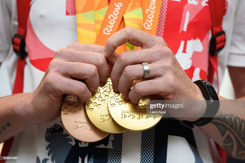 British Paralympians Return Victorious From The Rio Olympics : News Photo