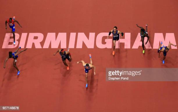 Gold Medallist, Andrew Pozzi of Great Britain wins the Men's 60 Metres Hurdles Final during the IAAF World Indoor Championships on Day Four at Arena...