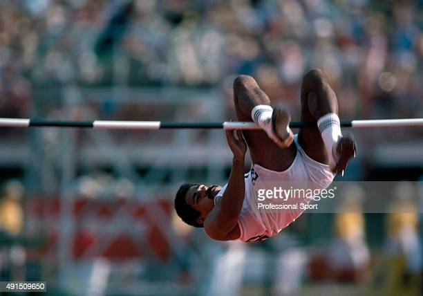 Gold medallist Daley Thompson of England particiating in the decathlon event during the Commonwealth Games in Brisbane Australia circa October 1982