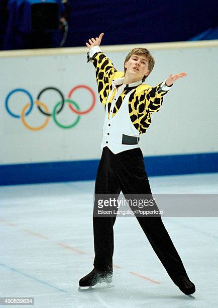 Gold medallist Ilia Kulik of Russia in the mens figure skating event during the Winter Olympic Games in Nagano Japan circa February 1998