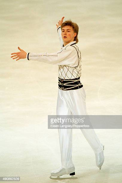 Gold medallist Ilia Kulik of Russia in the men's figure skating event during the World Figure Skating Championships in Lausanne Switzerland circa 1998