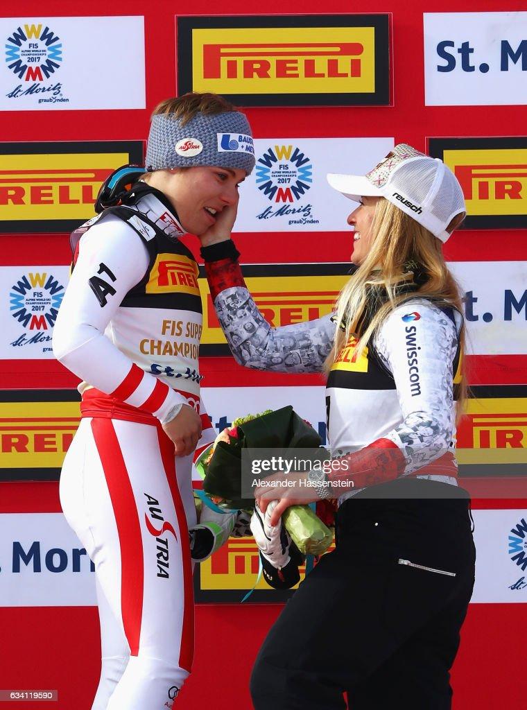 FIS World Ski Championships - Women's Super G : Nachrichtenfoto