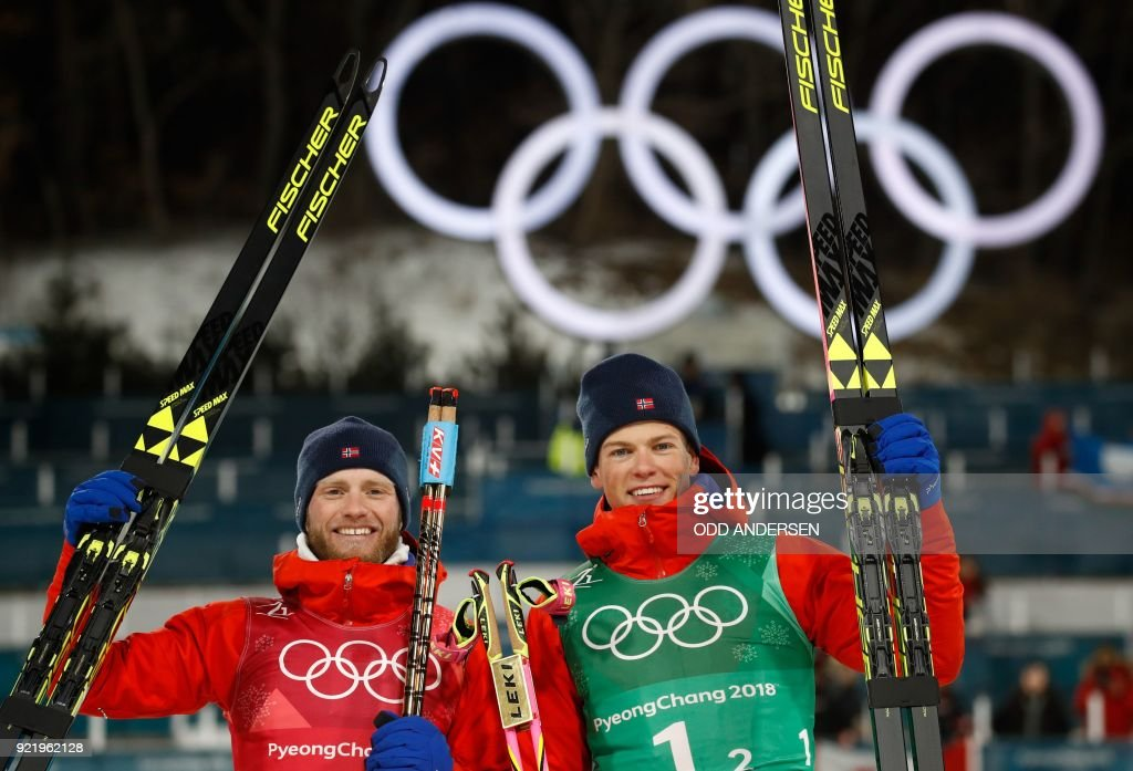 CCOUNTRY-OLY-2018-PYEONGCHANG-PODIUM : News Photo