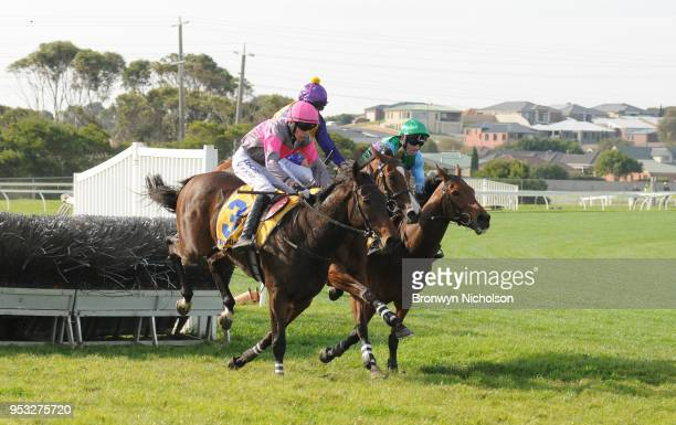 Gold Medals ridden by Shane Jackson wins the 3YB Scotty Stewart Brierly Steeplechase at Warrnambool Racecourse on May 01 2018 in Warrnambool Australia