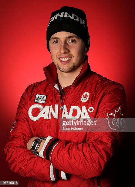 Gold medalwinning moguls skier Alexandre Bilodeau of Canada poses in the NBC Today Show Studio at Grouse Mountain on February 15 2010 in North...