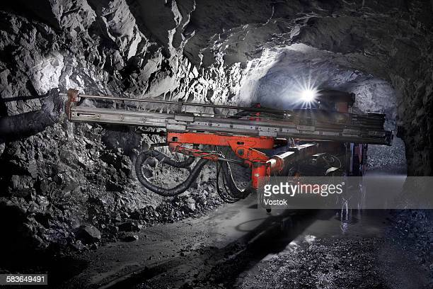 gold mine - underground mining stock photos and pictures