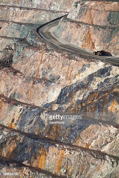 gold mine truck in kalgoorlie - gold mining stock photos and pictures