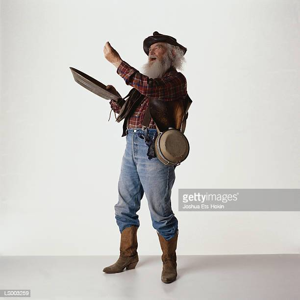 gold miner - gold rush stock photos and pictures