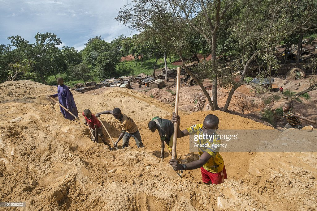 Ndassima gold mine in Central African Republic : News Photo