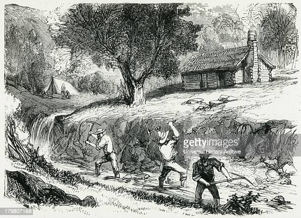 ground sluicing Engraving 1879