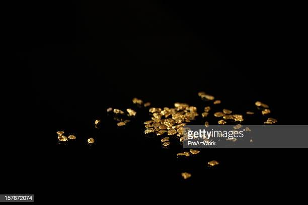 gold nuggets - nuggets stock photos and pictures