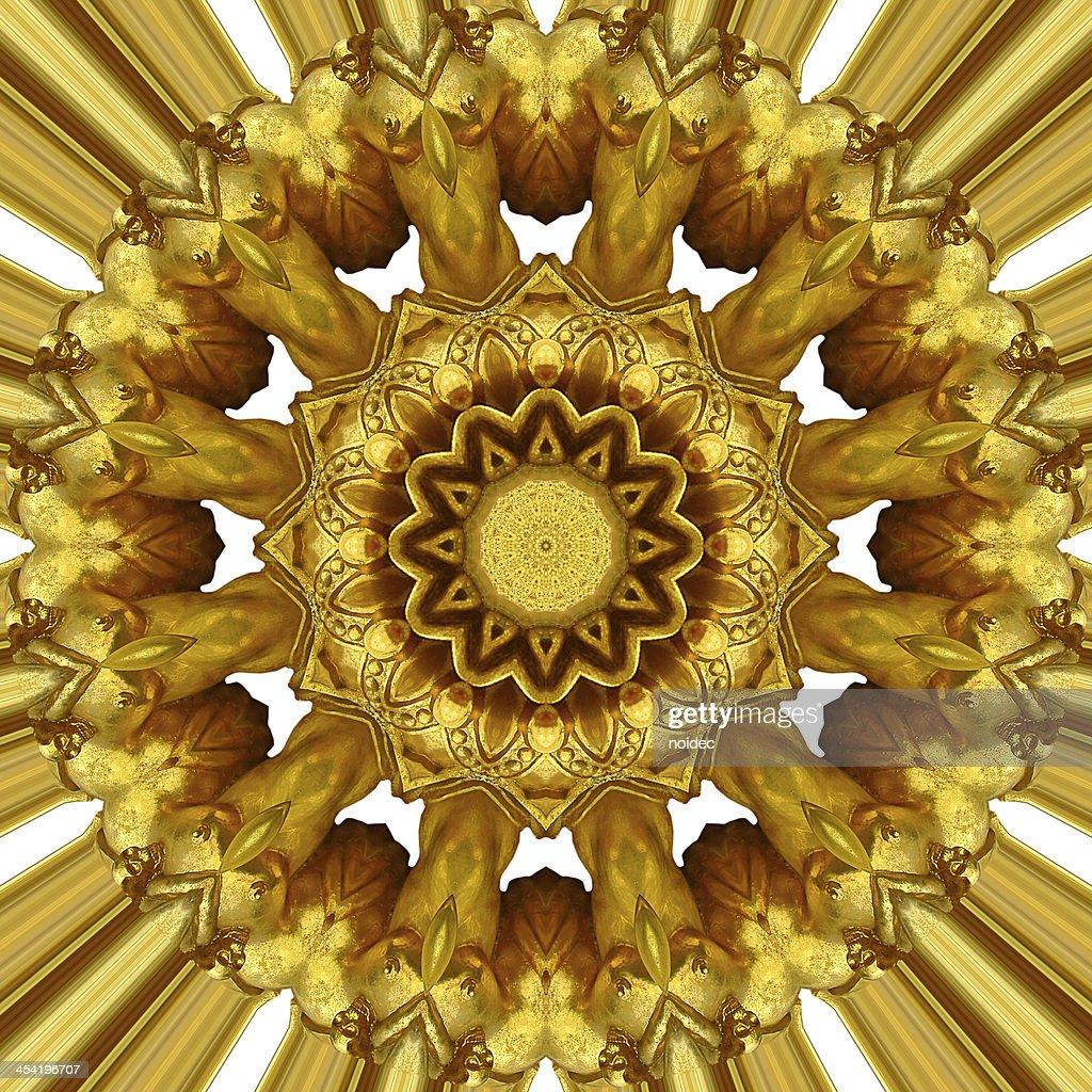 Adorno de oro : Foto de stock