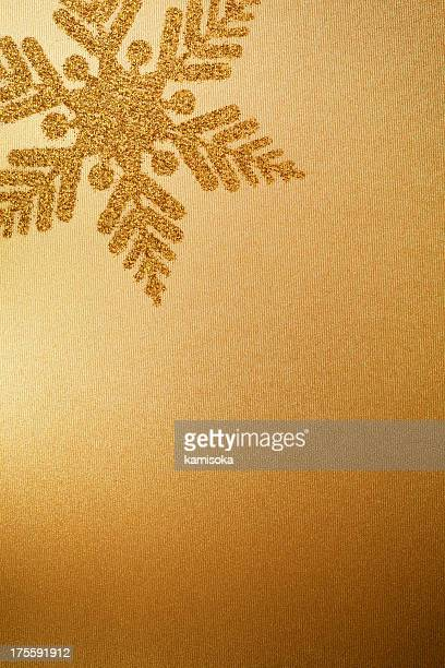 Gold Paper With Snowflake