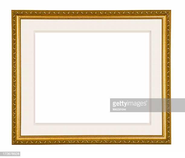 Cadre photo or avec un petit tapis