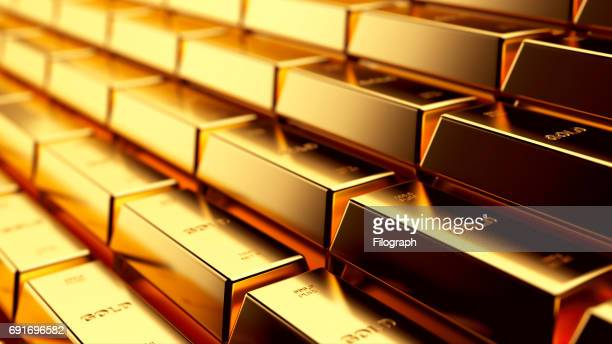 gold - gold bars stock photos and pictures
