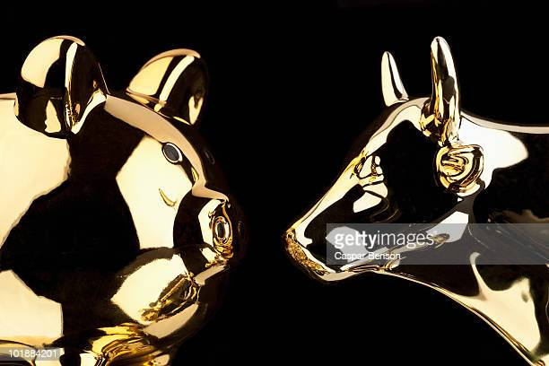 A Gold Pig And A Gold Bull