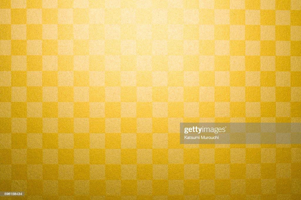Gold plaid paper : Stock Photo