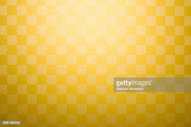 gold plaid paper - japanese culture stock pictures, royalty-free photos & images