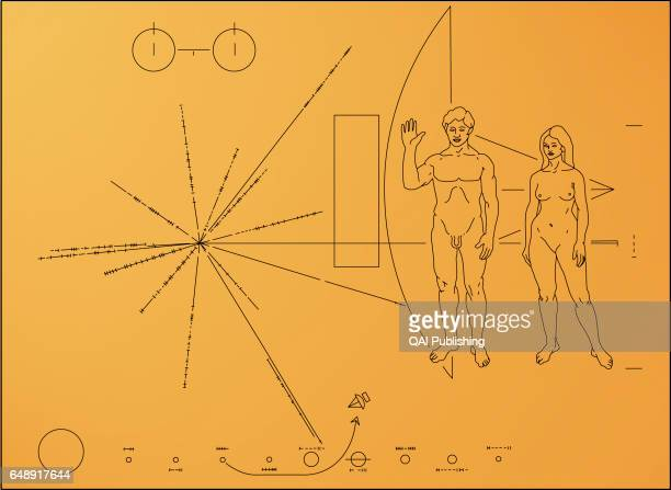 Gold plaque The Pioneer probes carried a gold plaque bearing a message designed by the American astronomer Carl Sagan Information on the probe's...
