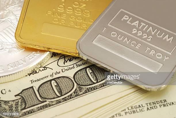 Gold y Platinum y plata-Primer plano