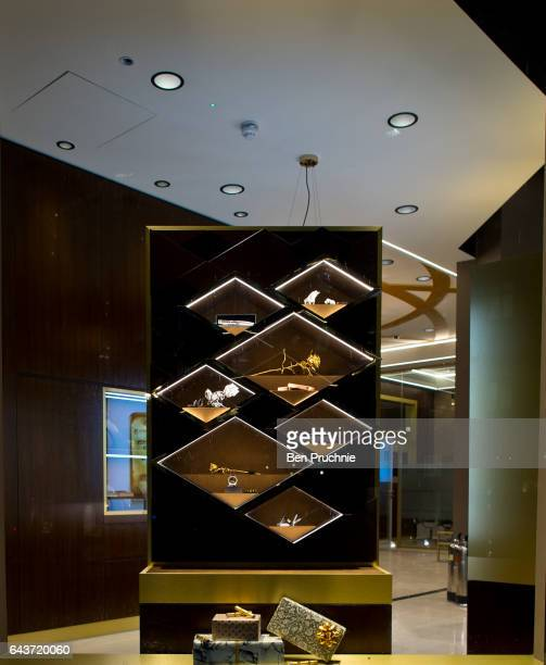 Gold products are displayed in the window of Sharps Pixley Bullion Brokers on December 15 2015 in London England The brand established in 1778 is...