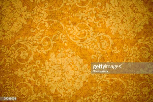 gold retro background - victorian wallpaper stock pictures, royalty-free photos & images