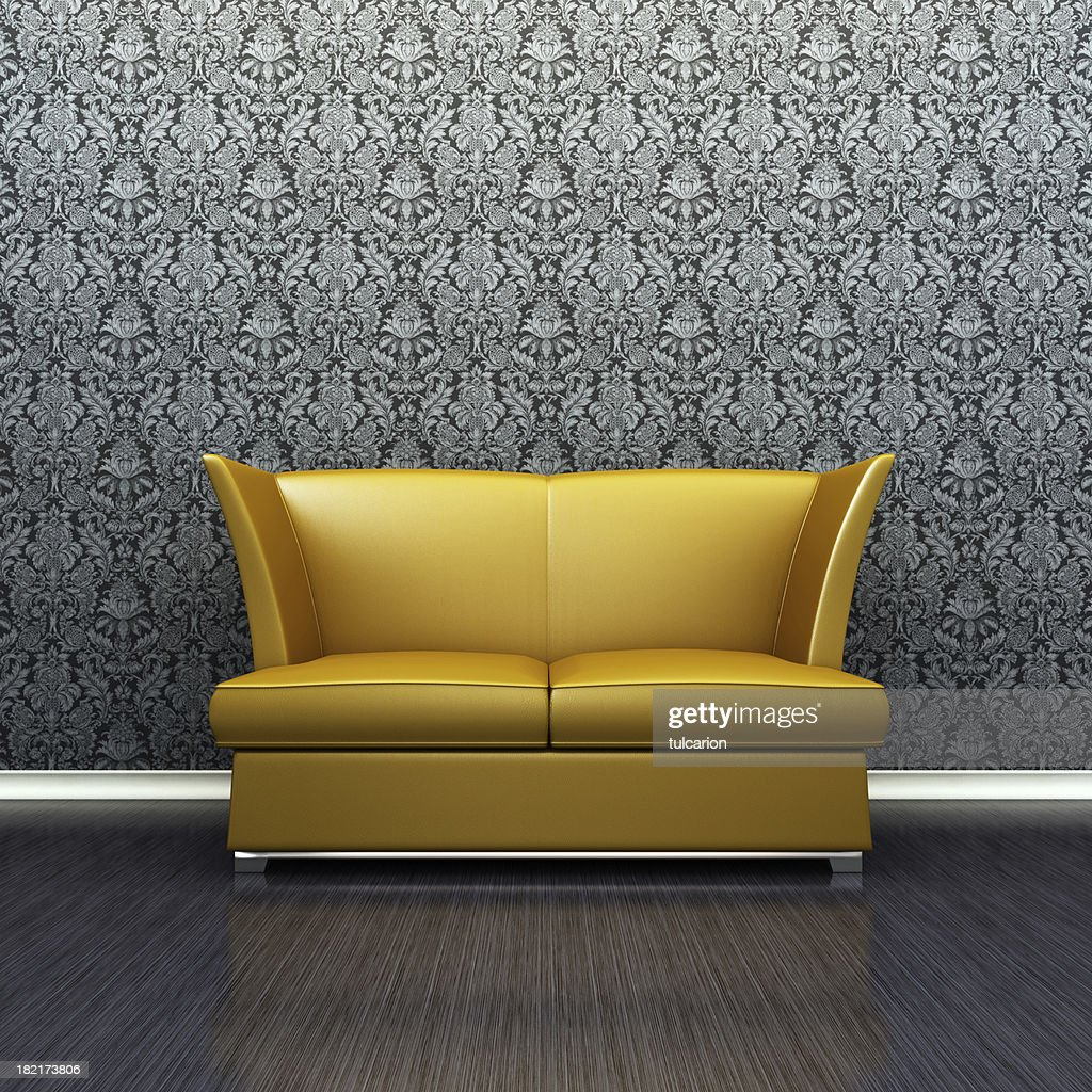 Fesselnde Retrosofa Das Beste Von Gold Retro Sofa In Lounge Room :