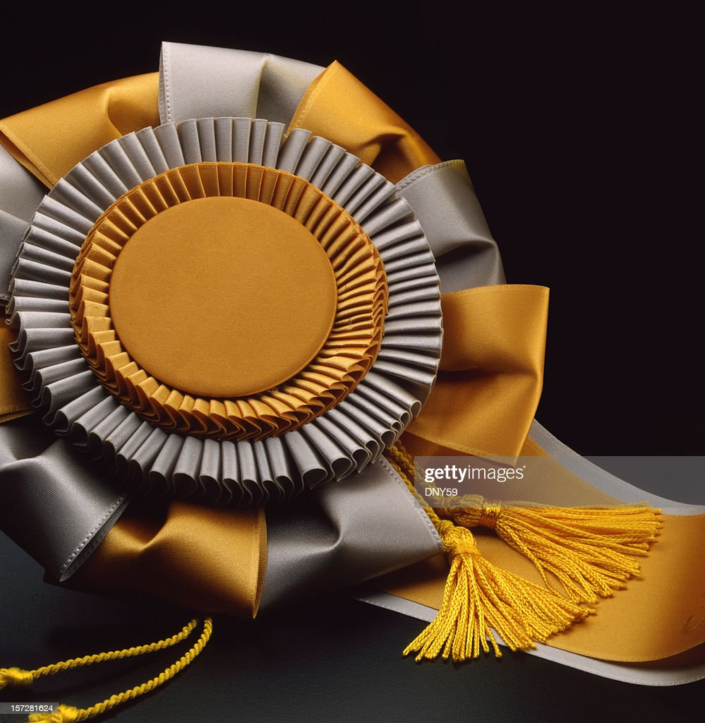 gold ribbon award stock photo getty images