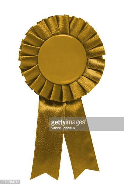 gold ribbon - blue ribbon stock photos and pictures
