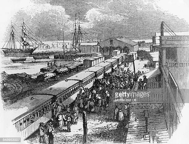 Gold rush California 18481854 After landing at Aspinwall Panama voyagers to California take the newly inaugurated Panama Railroad to cross the...