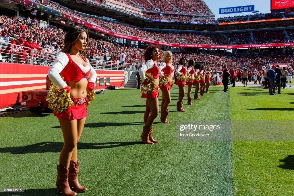 Gold Rush girls on the sideline of the regular season game