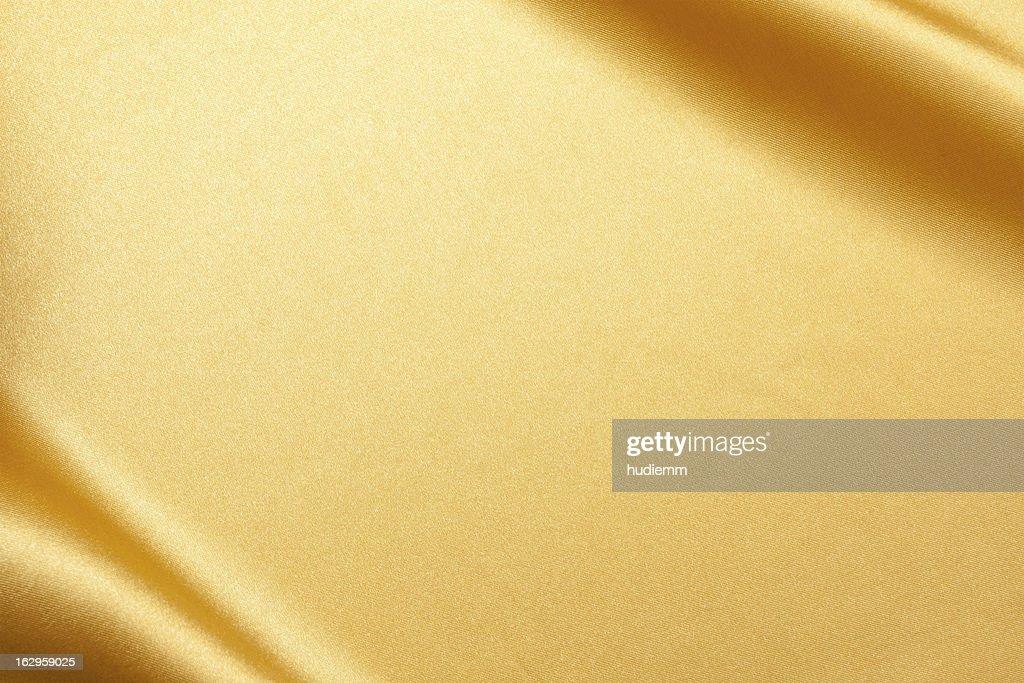 Gold Satin background textured : Stock Photo