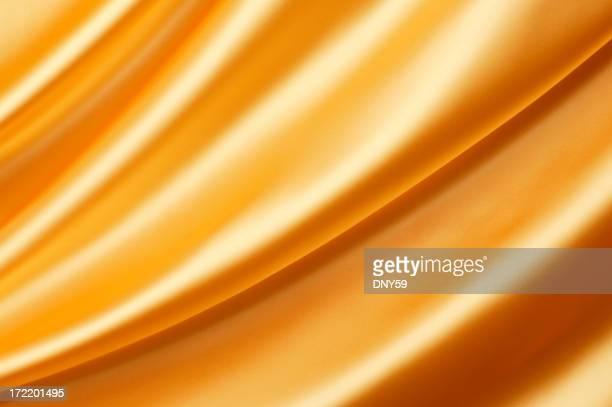 ゴールドのサテン