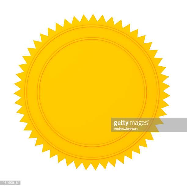 gold seal - seal stock pictures, royalty-free photos & images