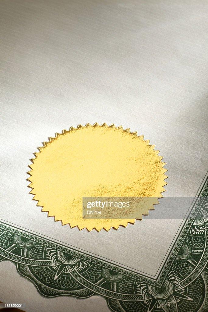 Gold Seal : Stock-Foto