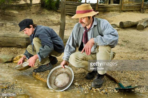 Gold searching at Sovereign Hill