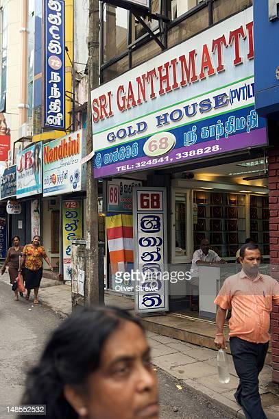 Gold shops in Sea Street, Pettah.