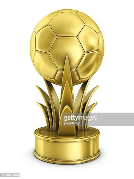 prix gold de football - trophée photos et images de collection