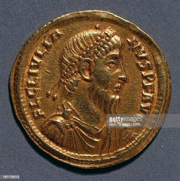 Gold solidus bearing the image of Julian the Apostate 361363 AD Roman coins 4th century AD