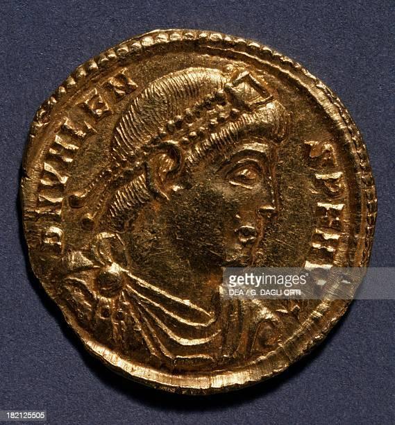 Gold solidus of Valeno 364378 Roman coins 4th century AD