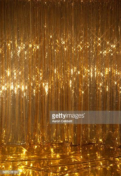 Gold sparkle curtain/stage