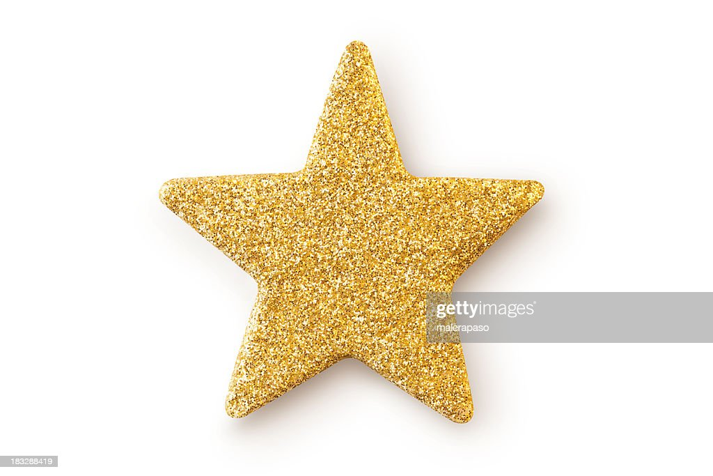 Gold star. Christmas decoration. : Stock Photo