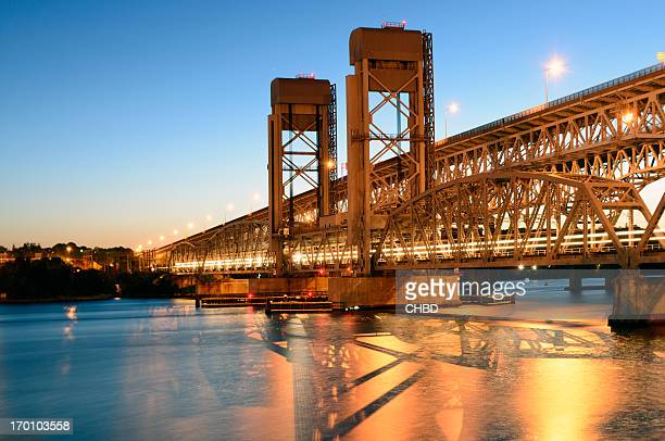 gold star memorial bridge - connecticut stock pictures, royalty-free photos & images
