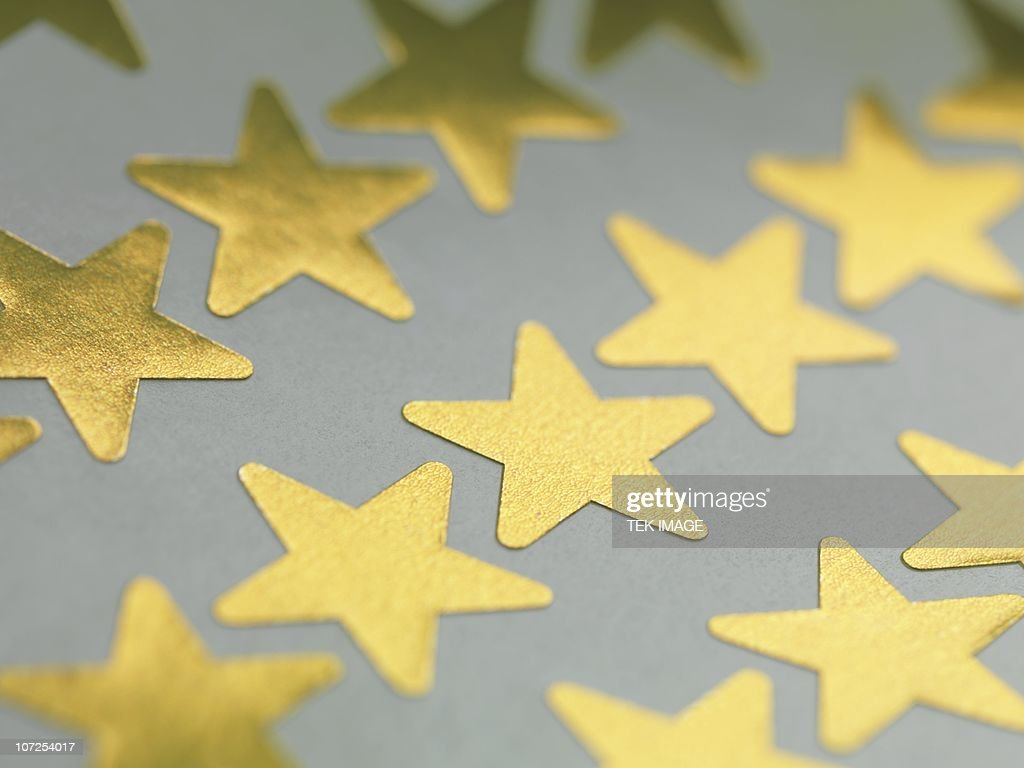 Gold star stickers : Stock Photo