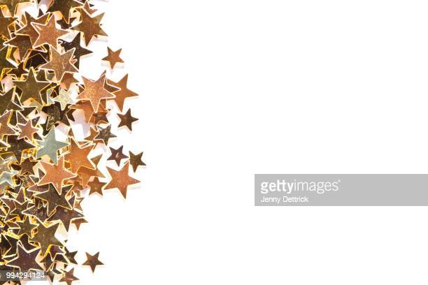 gold stars - star shape stock pictures, royalty-free photos & images