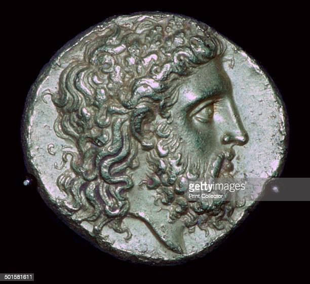 Gold Stater of King Alexander I of Epirus brother of Olympias who was mother to Alexander the Great 4th century BC This image is of the obverse...