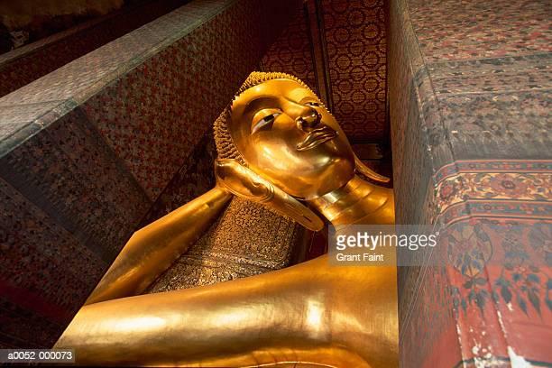 Gold Statue in Buddhist Temple