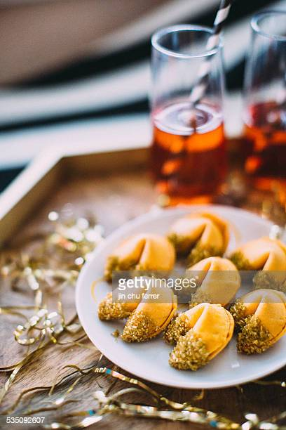 Gold Sugar Dipped Fortune Cookies